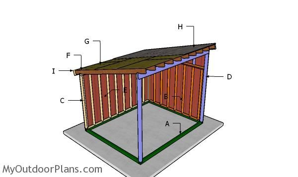 10x12 Run In Horse Shelter Plans Myoutdoorplans Free Woodworking Plans And Projects Diy Shed Wooden Playhou Horse Shelter Horse Run In Shelter Horse Shed