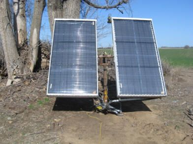 A Solar Water Heating System Using Tracked Collectors