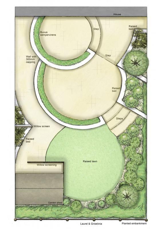 best garden design plan images on, Natural flower