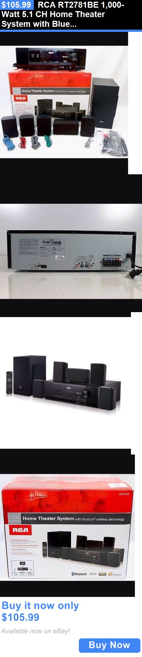 Home Theater Systems: Rca Rt2781be 1,000-Watt 5.1 Ch Home Theater System With Bluetooth And Remote BUY IT NOW ONLY: $105.99