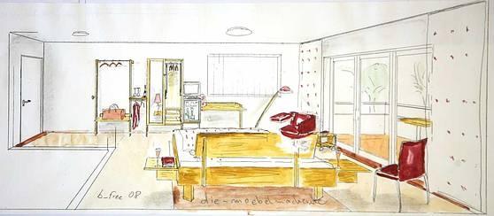 Entwurf des barrierfreien Hotelzimmers http://www.die-moebelmacher.de/produkte/barrierefrei/b-free.html
