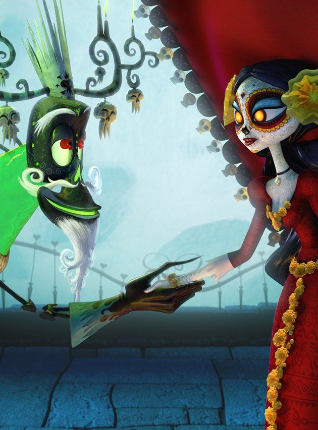 "Xibalba - ""I believe we have our wager: Which boy would marry her?""  La Muerte' - ""Very well!"""