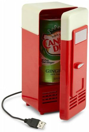 USB Fridge. Good idea for summer in the office. Sure need this for our office :) was just talking about one 2day