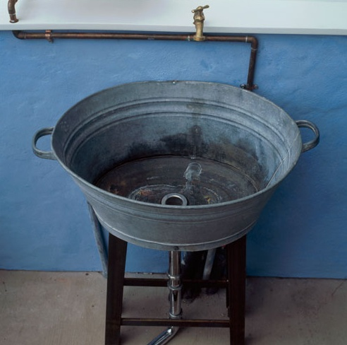 Galvanized Utility Sink : Easy utility sink for the campy home! (and it is GALVANIZED!!!) :)
