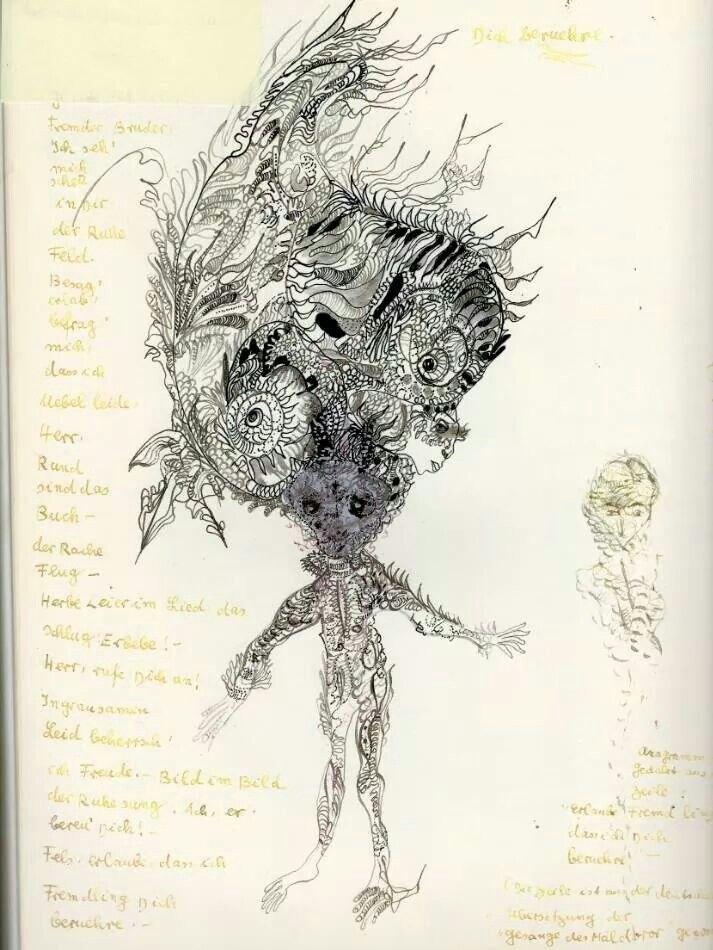 Unica Zurn, automatic drawing