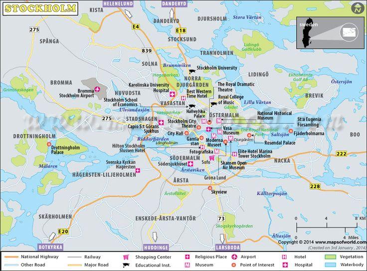 Best Stockholm Map Ideas On Pinterest - Sweden tunnelbana map