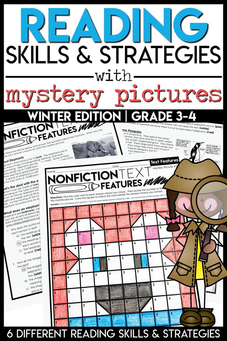 Reading Strategies Winter Mystery Pictures Main Idea Text Features Theme Mystery Pictures Text Features Teaching Main Idea [ 1104 x 736 Pixel ]