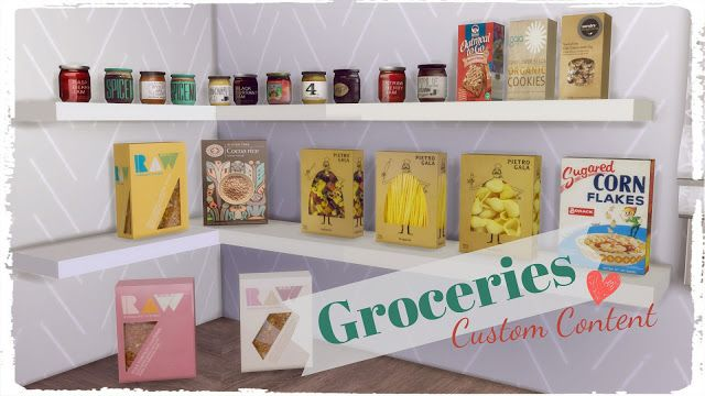 Sims 4 - Groceries TS2 to TS4