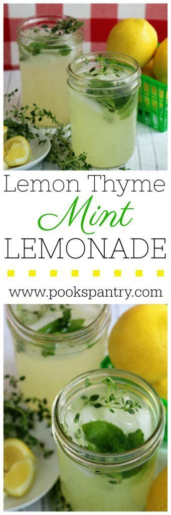 Lemon Thyme Mint Lemonade | Pook's Pantry Up your lemonade game this summer with this unique and delicious drink