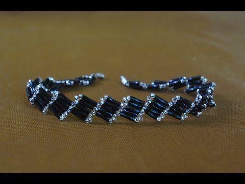 "Tutorial: ""Superiority"" beaded bracelet [EASY] / Простой браслет из бисера ""Превосходство"" - YouTube"