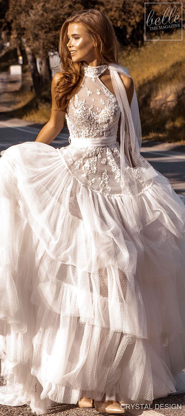 Crystal Design Couture Wedding Dresses 2020 Belle The Magazine Wedding Dress Couture Wedding Dress Necklines Ball Gown Wedding Dress [ 1379 x 615 Pixel ]