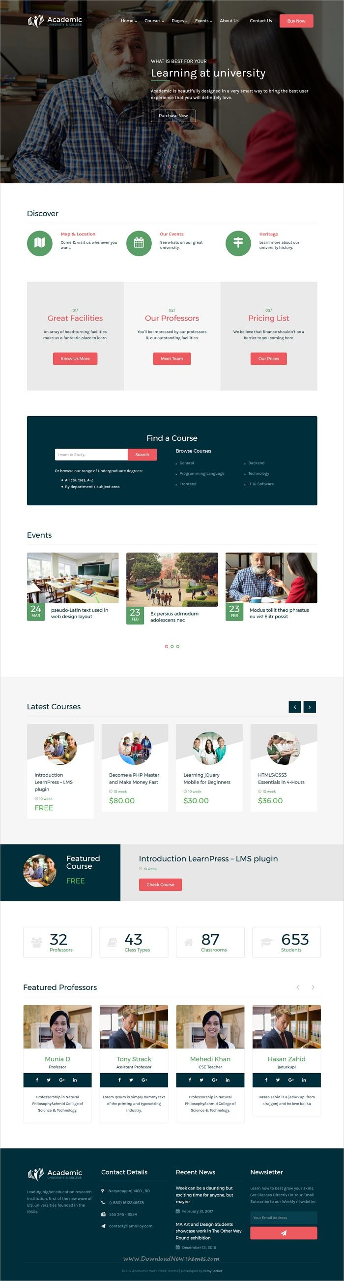 Academic is a wonderful 2in1 responsive #WordPress theme for #webdev #college and online course related educational website download now➩  https://themeforest.net/item/academic-education-theme-for-wordpress/19257775?ref=Datasata
