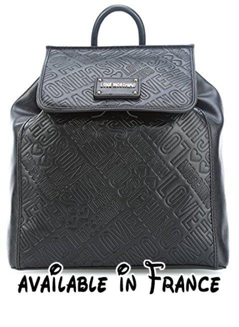 ae37c5c899 B078S5SNG2 : Love Moschino Embossed Logo Sac à dos noir. | Sacs et ...
