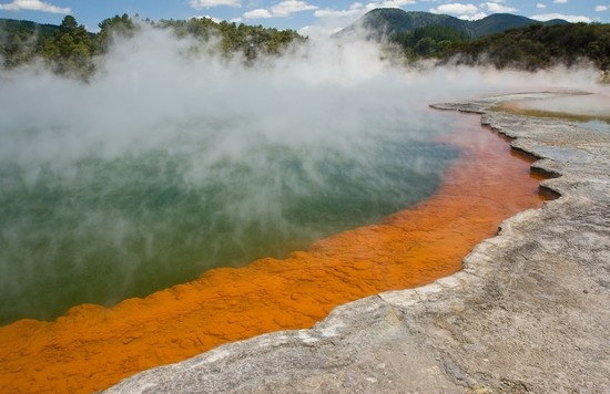 champagne pool_ Wakiato, New Zealand  http://planetoddity.com/champagne-pool-an-exciting-geothermal-spring-in-new-zealand/