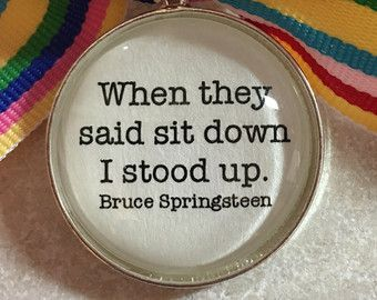 Bruce Springsteen Lyrics Pendant or Key Chain by LovetheColor