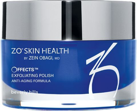 Offects ® Exfoliating Polish  Ultra-fine magnesium crystals exfoliate dead skin cells and increase epidermal turnover for a cleaner, smoother, more even-toned complexion. Vitamins A, C, E, and C-Esters provide antioxidant benefits to help maintain skin barrier functio #ZoSkinHealth