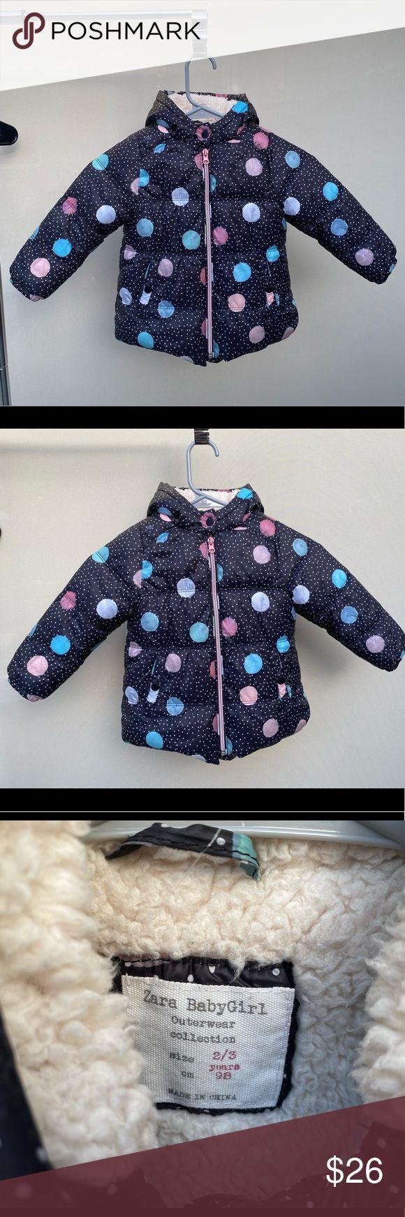 Zara Baby Girl Winter Coat Puffer 2-3 toddler in 2020 ...