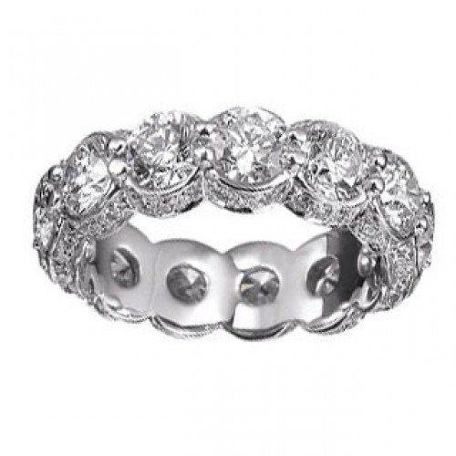 6.00 ct Ladies Round Cut Diamond Eternity Wedding Band Ring in