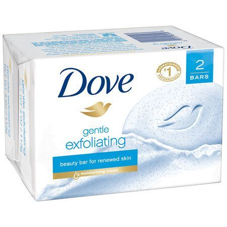 DOVE GENTLE EXFOLIATING BEAUTY BAR FOR RENEWED SKIN 2-4.25 OZ. Renewed, Gentle exfoliating formula contains exfoliating beads and 1/4 moisturizing cream to lift away dull, lifeless surface cells and h