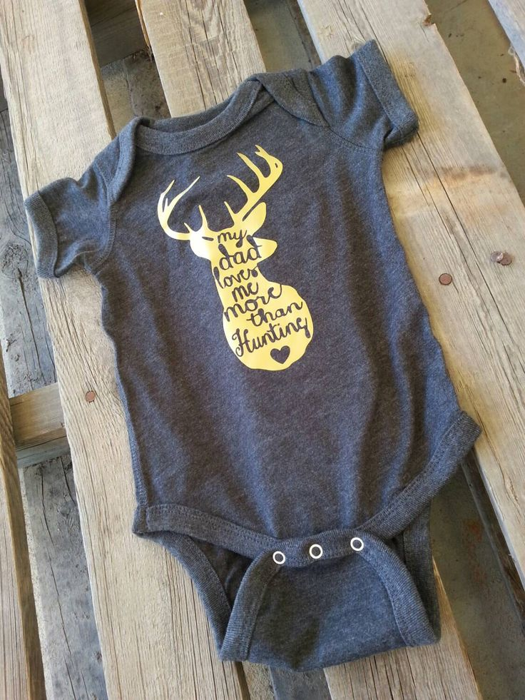My Dad Loves Me More Than Hunting - Onesie - Hunting - Buck - Hunting Clothes - Antlers - Baby Boy Baby Girl Onesie - Gold and Black by BurlapBlondie on Etsy https://www.etsy.com/listing/246579958/my-dad-loves-me-more-than-hunting-onesie