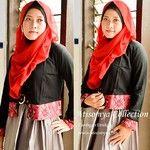 www.hijabcornerid.com  Outfit with Cardigan.  R006-02 Cardigan Etnik Material rayon mix tenun ikat bali Size M, bust 96 cm Size L, bust 100 ...