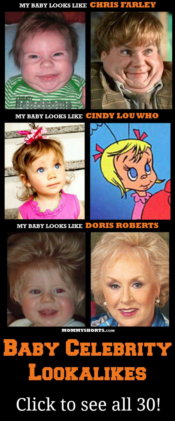 Oh my gosh - these are hilarious! 30 Baby Celebrity Lookalikes - wait until you see Danny DeVito!!