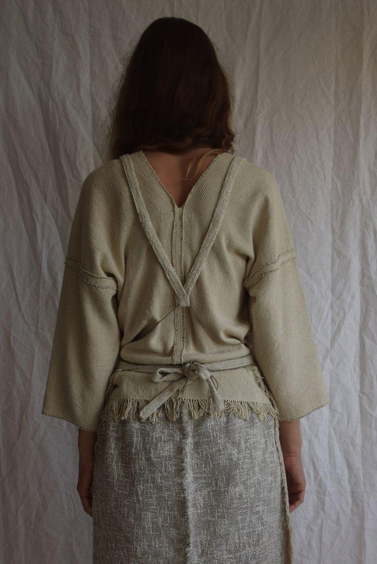 Mujo. by Elizabeth Leslie - Apron Top Handwoven Japanese silk www.mujostore.com