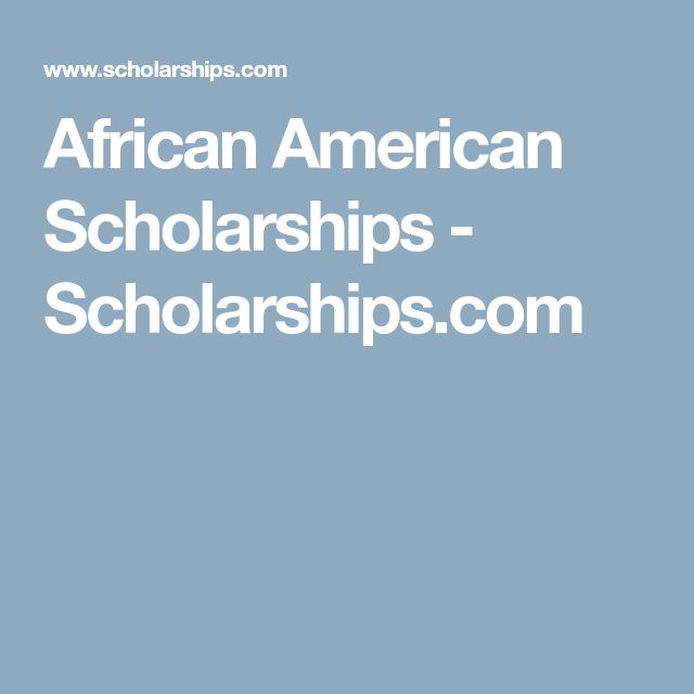 African American Scholarships - Scholarships.com