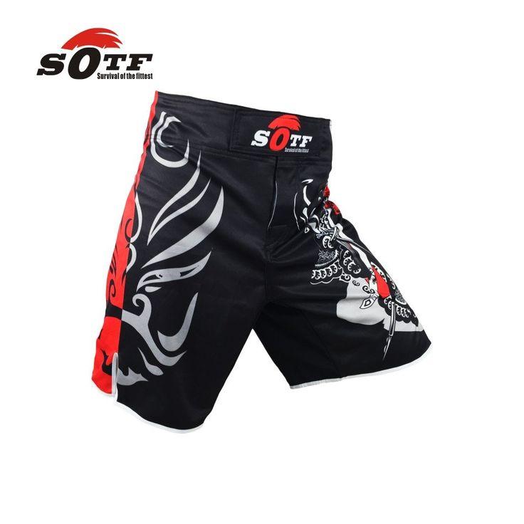 SOTF MMA Shorts Boxing Muay Thai Boxing Trunks Hayabusa Tiger Muay Thai Kickboxing Fight Wear