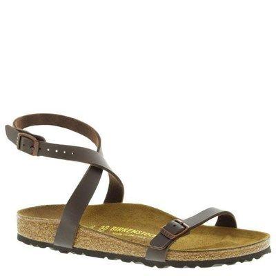Birkenstock Daloa Birko-Flor Mocha Sandals - HappyFeet.com
