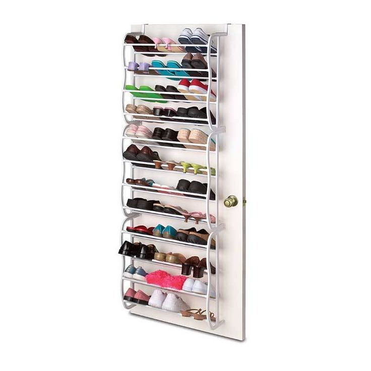 turn a jumbled mess into a wellkept closet with this savvy shoe organizer just hang the hooks over any door to keep up to 36 pairs off the
