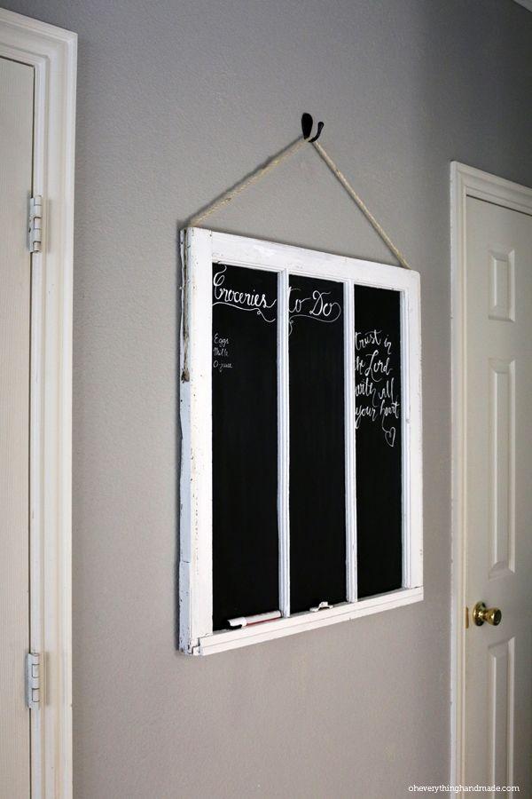 DIY Old Window Frame Chalkboard4
