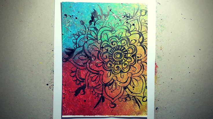 How to paint a Mandala