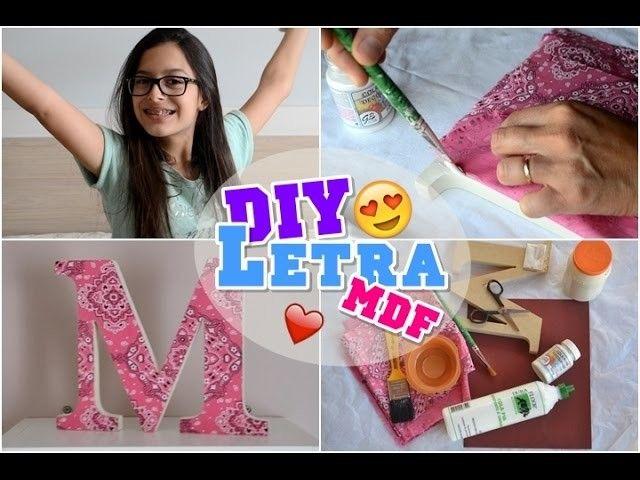 DIY ♡ Letra de MDF ♡ Giulia Lopes