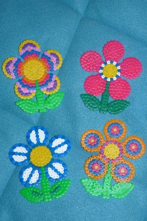 Flowers hama perler - Le blog de Didine