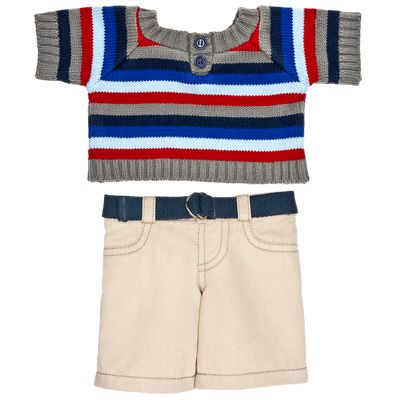 Striped Sweater & Khakis Outfit 2 pc.