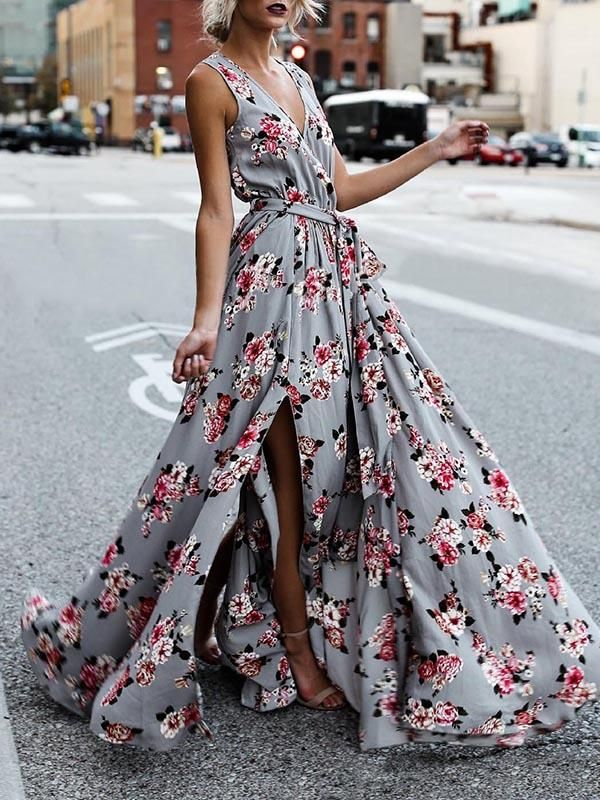 91ee1a14fa9 Bohemia Sleeveless Split-side Maxi Dress – oshoplive