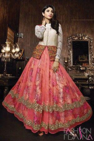 Dusty Pink and White Net and Jacquard Designer Salwar Kameez   #suit #salwar suit, #anarkali salwar suit, #party wear suit, #latest collection #heavy salwar suit, #online shopping party wear suit, #wedding Collection #fresh arrival