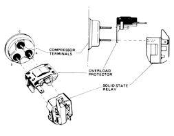 fridge compressor overload relay run capacitor wiring