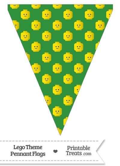 Green Lego Theme Pennant Banner Flag from PrintableTreats.com
