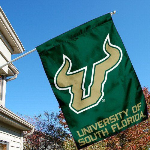 University of South Florida Bulls USF House Flag by College Flags and Banners Co.. $23.95. University of South Florida Bulls USF House Flag is 30x40 inches in size, is made of single-ply polyester with double-sided bottom school panel, has a top sleeve for insertion of a wood or aluminum flagpole, and the Licensed NCAA School logos are screen printed into this University of South Florida Bulls USF House Flag.