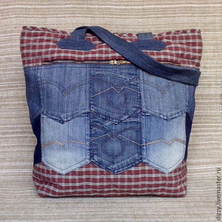 Купить Сумка джинсовая Big Bag в интернет магазине на Ярмарке Мастеров