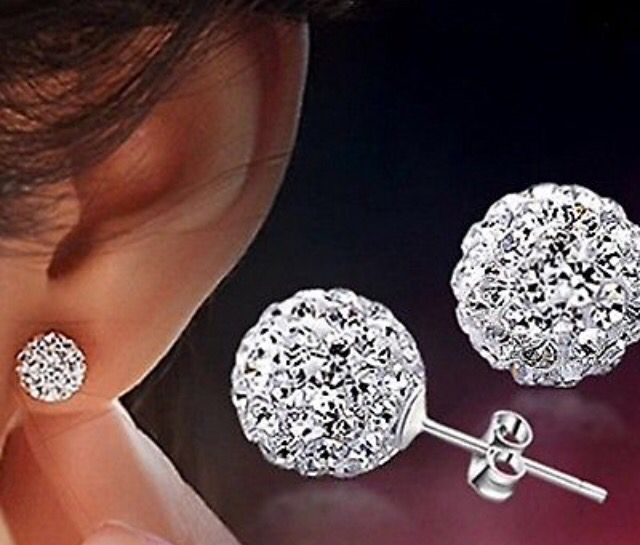 Silver Plated Ball with Crystals Stud Earrings #silver #studearrings #ball #crystals #jewellery #cute http://m.ebay.co.uk/itm/Free-Gift-Bag-Silver-Plated-Crystal-Ball-Stud-Earrings-Ladies-Jewellery-Cute-/282036721325?nav=SELLING_ACTIVE