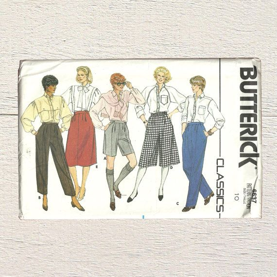 New in Posy Patterns 80s Boxy Shorts  Boyfriend Shorts Pattern  Butterick 6637  Misses Shorts Ladies Skirt Girls Culottes and Pants  Casual Office Attire by PosyPatterns