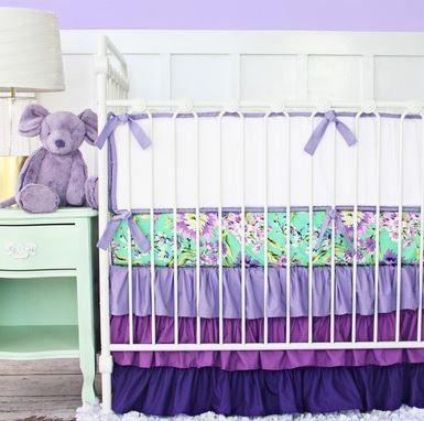 Best Caden Lane Purple Paige Piece Crib Bedding Set