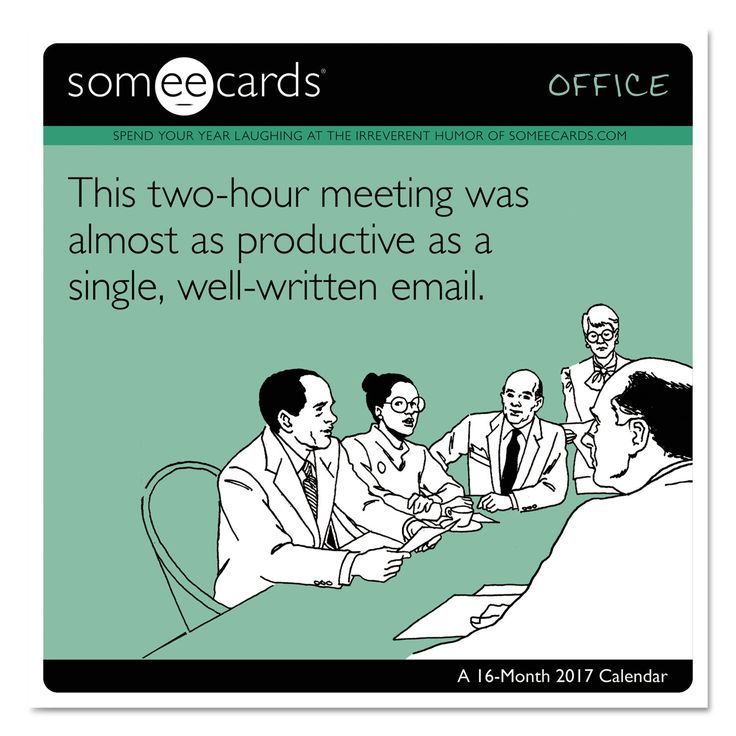 "Day Dream Someecards - Office Wall Calendar, 12"" X 11"", 2016-2017"