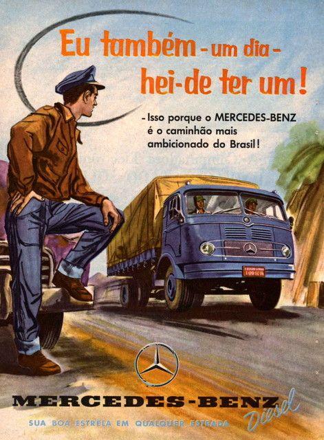Propaganda de Caminhões Mercedes