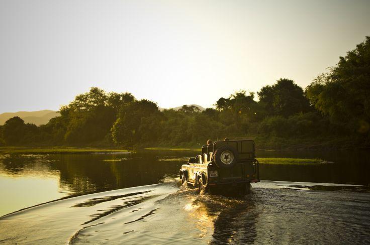 Seasonal flooding of the #river makes for interesting 4x4 game drives. Kasaka River Lodge - #Zambia. #Africa #Travel #Kasaka #gamedrive #Zambezi #Safari #Bush #Camp ©Gareth Bentley