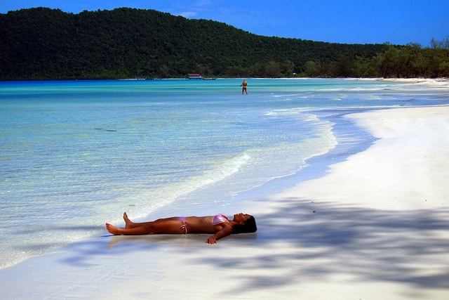 Koh Rong & Koh Rong Samloem  (Cambodia). 'More and more resorts are  cropping up on the long, lonely  white-sand beaches of these  neighbouring islands two hours  off Sihanoukville.' http://www.lonelyplanet.com/cambodia