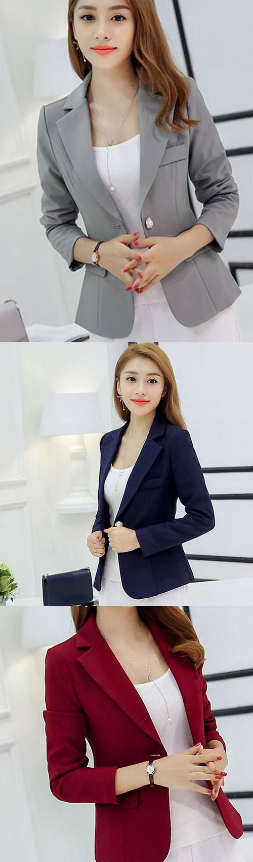 Women's Going out Simple Spring Fall Blazer